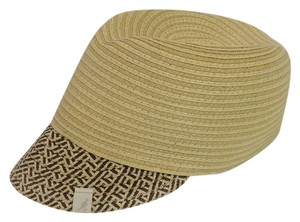 Kangol Kangol Colette Two Color Straw Braid Sun Cap Natural Medium
