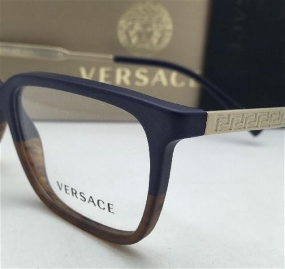 Versace Ve 3209 5135 55-17 Blue-tortoise & Gold Frames New Rx-able ...