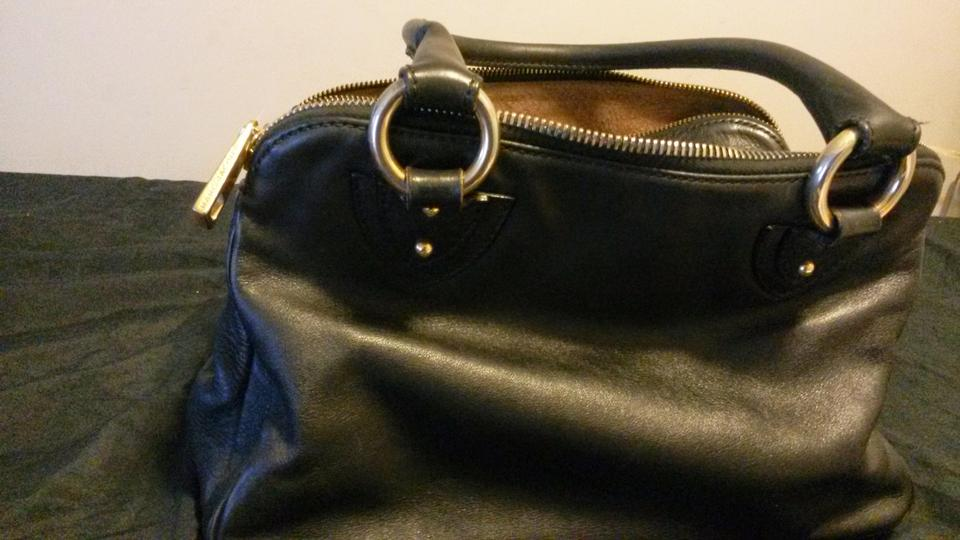 Marc Jacobs Vintage Iconic Hardware Timeless Leather Handbags Blake Multi Compartments Satchel In Black 12345