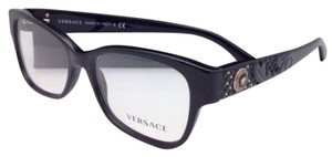 Versace New VERSACE Eyeglasses VE 3196 GB1 54-16 135 Black Frame w/ Clear Demo Lenses