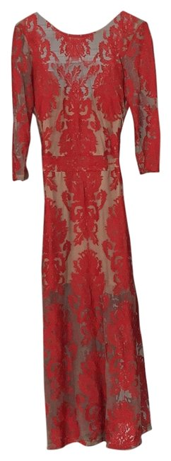 Item - Red Long Night Out Dress Size 4 (S)