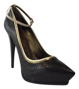 Lanvin Snakeskin Black Pumps