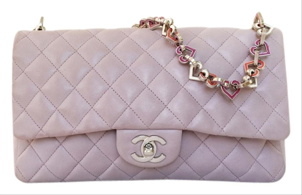 37985f2abff7 Chanel Classic Flap Lambskin Spring Heart Charm Valentine Limited ...