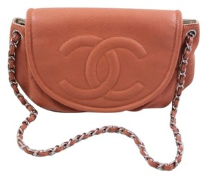 Chanel Half Moon Jumbo Pink Shoulder Bag