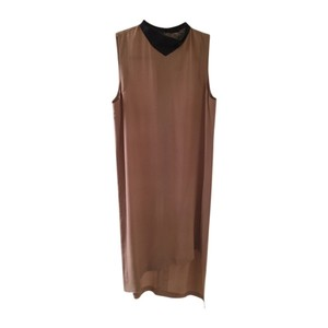 Robert Rodriguez Sleeveless Asymmetrical Bottom Sheath Silk Edgy Dress