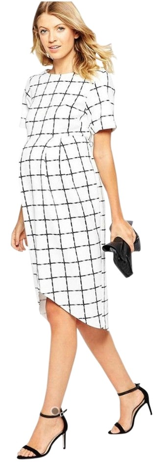 f646863881a40 ASOS ASOS Maternity I Wrap Wiggle Dress in Scuba with Grid Check Print -  size 10US ...