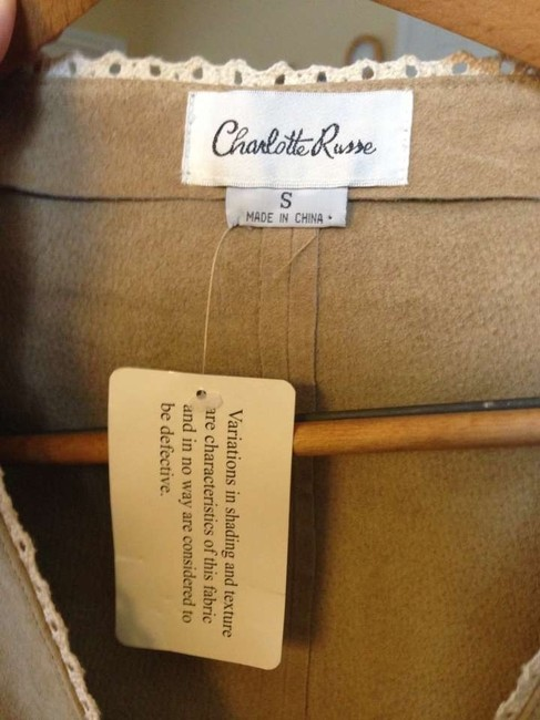 Charlotte Russe Tan Leather Jacket