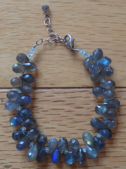 Other Stunning Hand-Beaded Bracelet with Sterling Silver Clasp