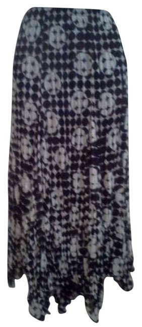 Chico's Maxi Skirt black/white
