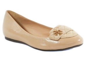 Tory Burch Leila Quilted Beige Flats