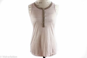Sanctuary Clothing Sanctuary Sleeveless Shadow Stripe Contrast Trim Top Pink