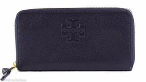 Tory Burch Tory Burch Thea Zip Continental Wallet Blue Ink