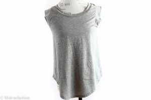 Other Alternative Sleeveless Muscle Tee Top Gray