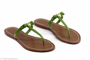 Tory Burch Leighanne Flat Green Sandals