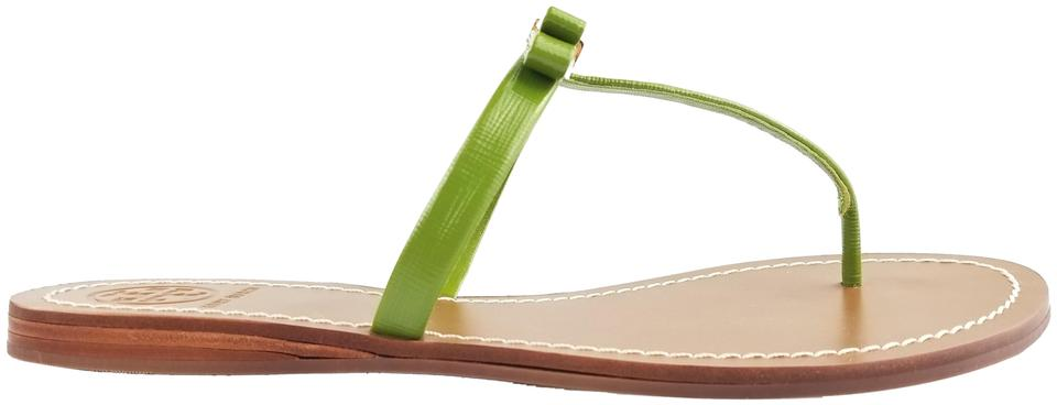 Tory Burch Patent Leaf Green Leighanne Saffiano Patent Burch Sandals f3b8ad