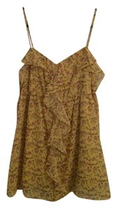 Candie's Kohls Candies Flowers Top yellow floral