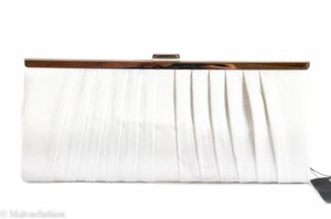 Style & Co Carolyn Satin Evening White Clutch