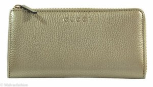 Gucci Gucci Womens 332747 Leather Zip Around Wallet Clutch