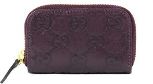 Gucci Gucci 324801 Gg Guccissima Mini Zip Around Coin Wallet, Purple