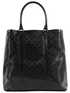 Gucci 223668 Imprime Gg Tote in Black