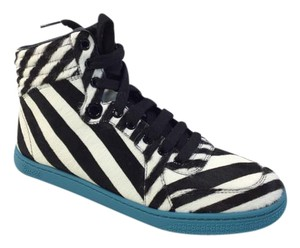 Gucci Womens Striped High-top Sneakers Multi-Color Athletic