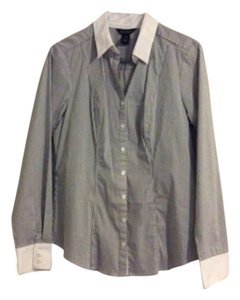 White House | Black Market Button Down Shirt Blue