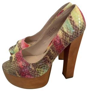 ZIGI NEW YORK Faux Snakeskin Platforms