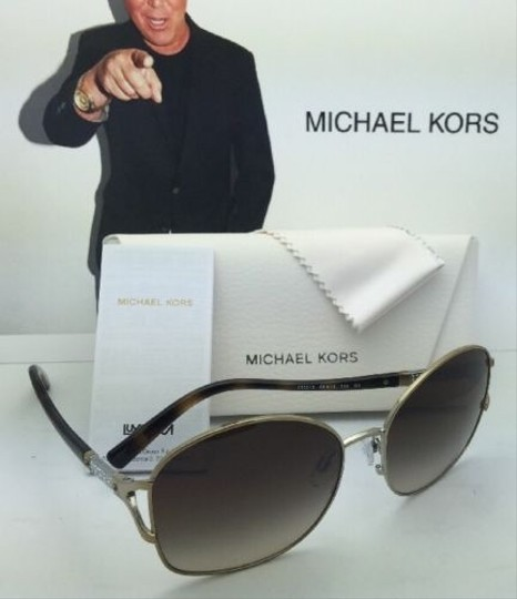 Michael Kors New MICHAEL KORS Sunglasses PALM BEACH MK 1004B 100313 Gold & Tortoise Frame w/ Brown Gradient Lenses Image 1