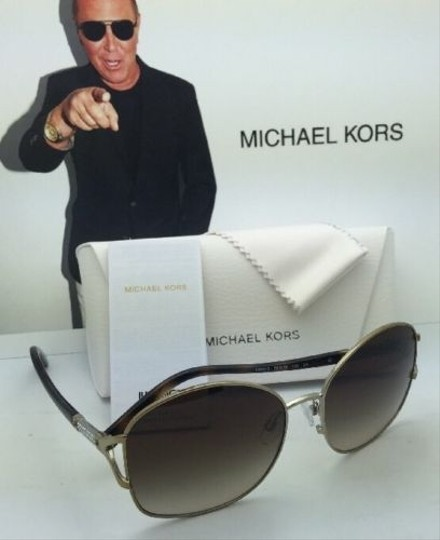 Michael Kors New MICHAEL KORS Sunglasses PALM BEACH MK 1004B 100313 Gold & Tortoise Frame w/ Brown Gradient Lenses Image 2