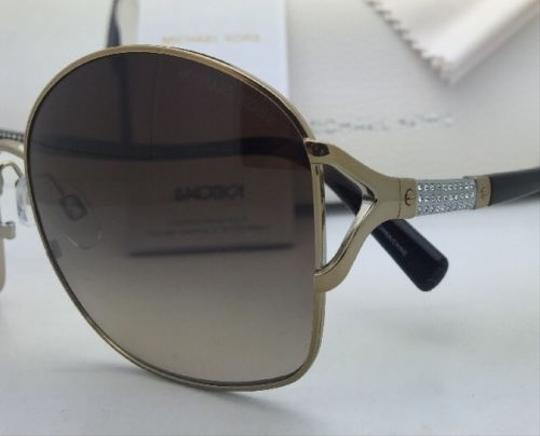 Michael Kors New MICHAEL KORS Sunglasses PALM BEACH MK 1004B 100313 Gold & Tortoise Frame w/ Brown Gradient Lenses Image 3