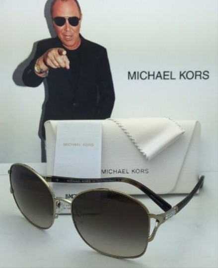 Michael Kors New MICHAEL KORS Sunglasses PALM BEACH MK 1004B 100313 Gold & Tortoise Frame w/ Brown Gradient Lenses Image 4