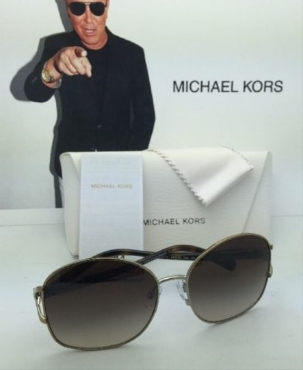 Michael Kors New MICHAEL KORS Sunglasses PALM BEACH MK 1004B 100313 Gold & Tortoise Frame w/ Brown Gradient Lenses Image 5