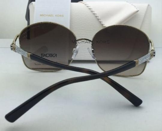 Michael Kors New MICHAEL KORS Sunglasses PALM BEACH MK 1004B 100313 Gold & Tortoise Frame w/ Brown Gradient Lenses Image 6