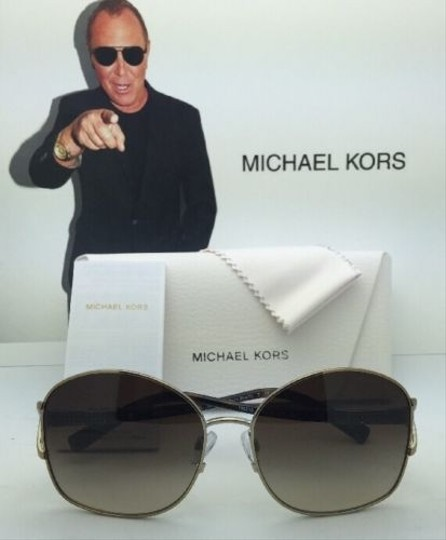 Michael Kors New MICHAEL KORS Sunglasses PALM BEACH MK 1004B 100313 Gold & Tortoise Frame w/ Brown Gradient Lenses Image 7