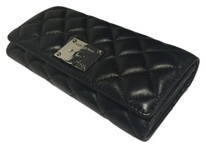 Michael Kors Michael Kors Astrid Carryall Clutch Wallet Quilted Black Leather