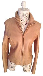 Claude Montana Beige Leather Jacket
