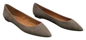 J.Crew Suede Pointed Toe Grey Heather grey Flats