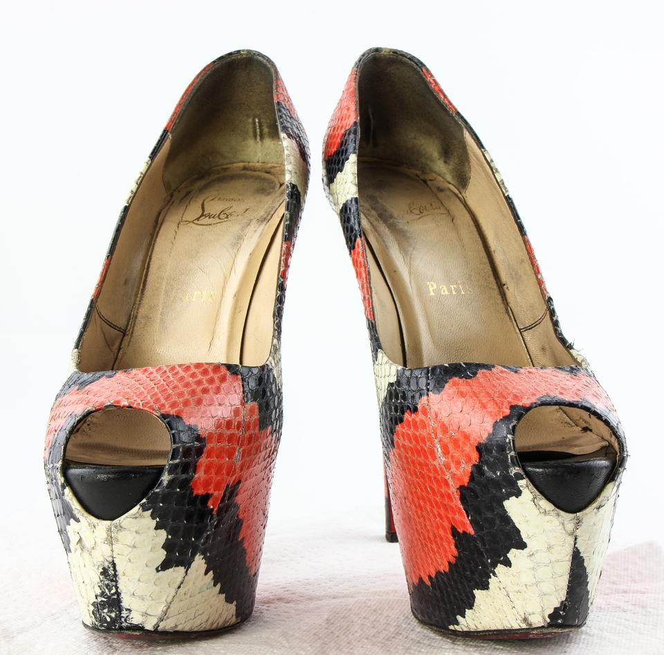 f3c93650137a Christian Louboutin Multicolor Highness Watersnake Skin Leather ...