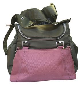 Loom Sage Green & Pink Diaper Bag