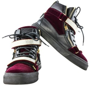 Giuseppe Zanotti Blood Red Velvet Athletic