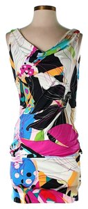 Diane von Furstenberg Silk Artsy Bodycon Dress