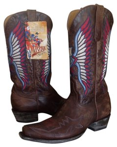 Old Gringo Embroidered Brown Distressed Boots