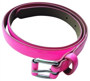 Gap Gap Neon Pink Patent Leather Belt size Small Org $24.95