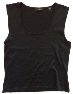 Cyrus Sleeveless Scoop Neck Top black