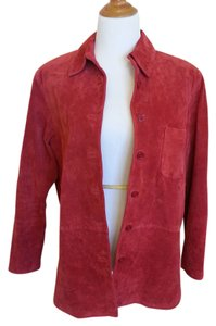 Vintage Suede Red Leather Jacket