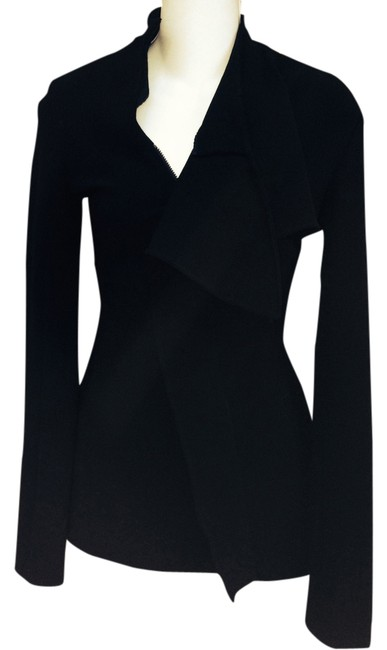 Preload https://item4.tradesy.com/images/jean-paul-gaultier-form-fitting-draping-black-blazer-1297798-0-0.jpg?width=400&height=650