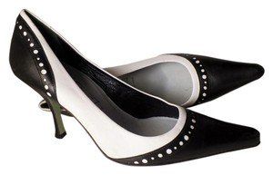 Cynthia Rowley Pump Leather Black White Pumps