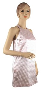 Roberto Cavalli short dress Light Pink Baby Pink Above The Knee Dots Mod Pink Sleeveless on Tradesy
