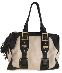 BCBG Paris Satchel in Black and white