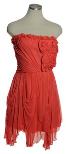 Robert Rodriguez 100% Silk Chiffon Strapless Dress
